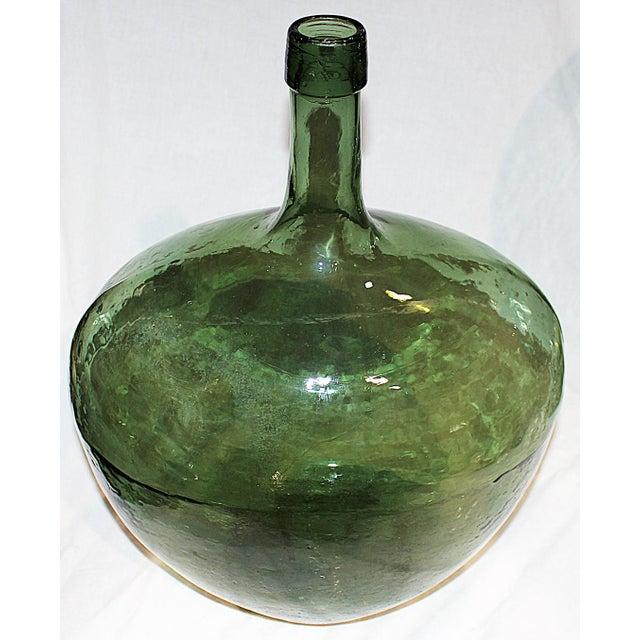 Demijohn Antique Blown Glass Bottle - Image 3 of 7