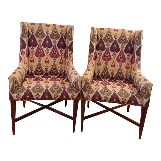 Modern Pearson Upholstered Chairs- a Pair For Sale