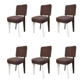 6 Dominique chairs by Jean Prouvé, France 50'