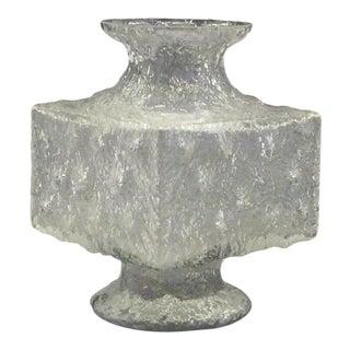 1960s Mid Century Modern Crassus Brutalist Glass Vessel by Timo Sarpaneva, Iittal Finland For Sale