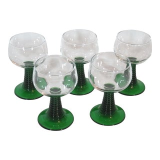 1970s Mid-Century Modern Luminarc France Stemware - Set of 5 For Sale