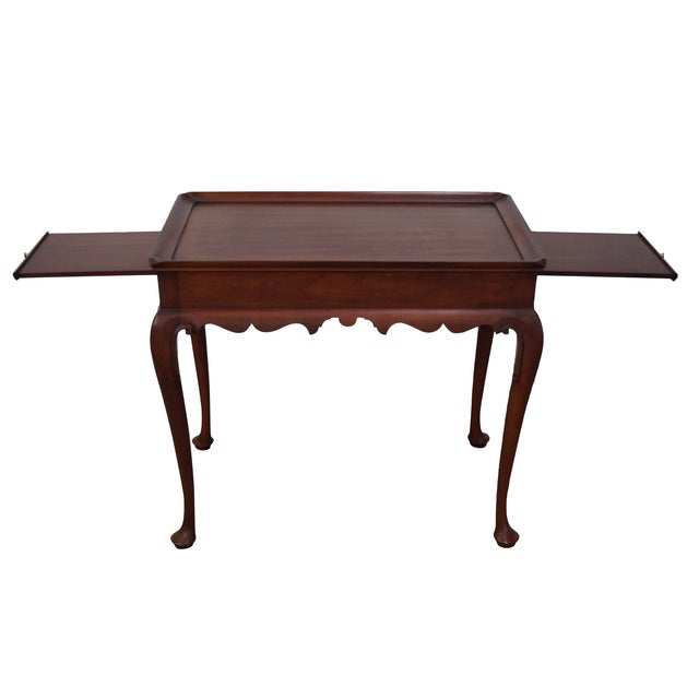 Henkel Harris Solid Cherry Queen Anne Tea Table - Image 1 of 10