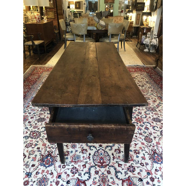 19th Century French Walnut Farm Table For Sale - Image 13 of 13