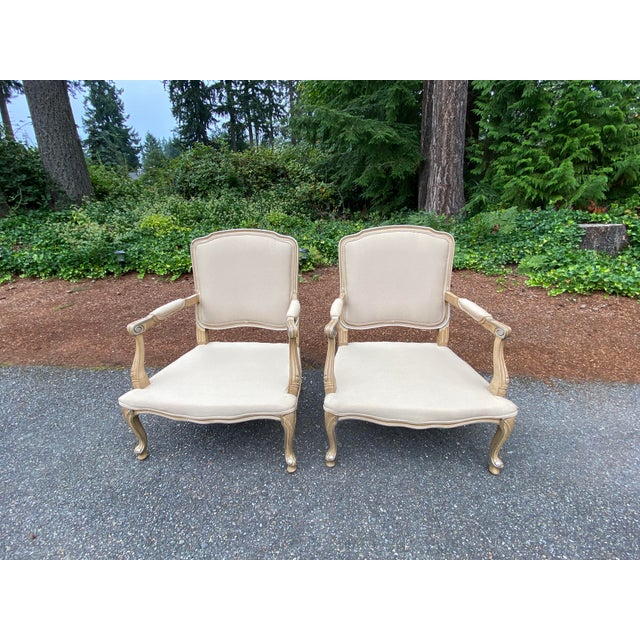 Harris Marcus Home Italian Bergere Chairs - a Pair For Sale In Seattle - Image 6 of 13
