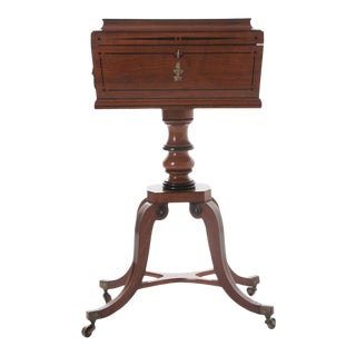 19th Century English Mahogany and Ebony Decanter Caddy For Sale