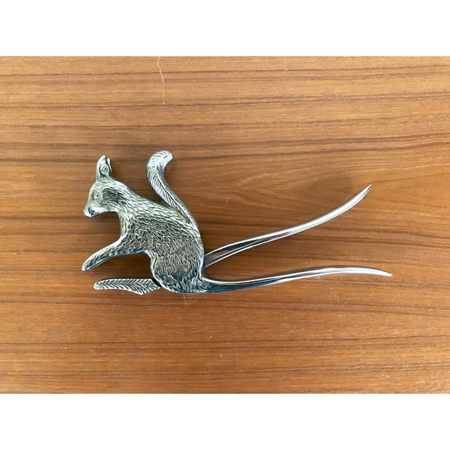 This silver squirrel nutcracker is a whimsical addition to your bar cart or atop some lovely coffee table books.