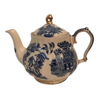 Blue Willow Sadler Tea Pot For Sale