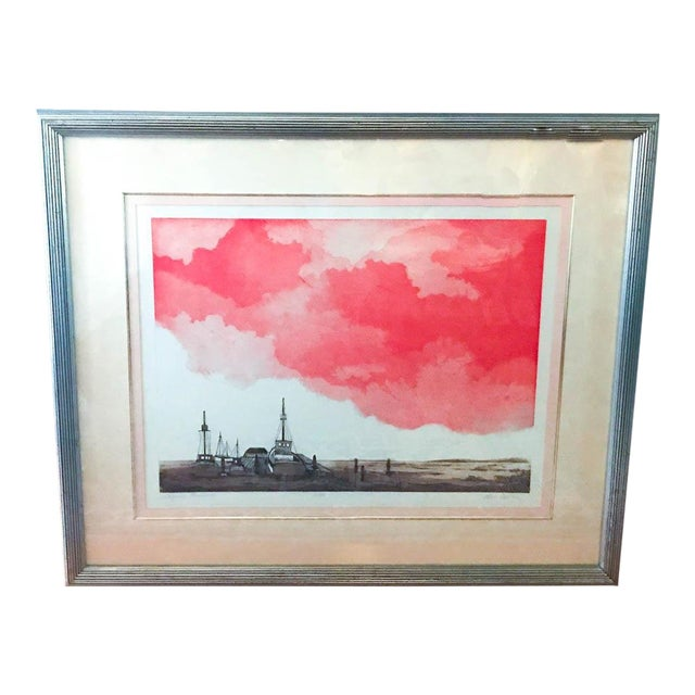 Mid Century Original Artwork by Listed Artist Alec Cowan, Laguna Channel For Sale