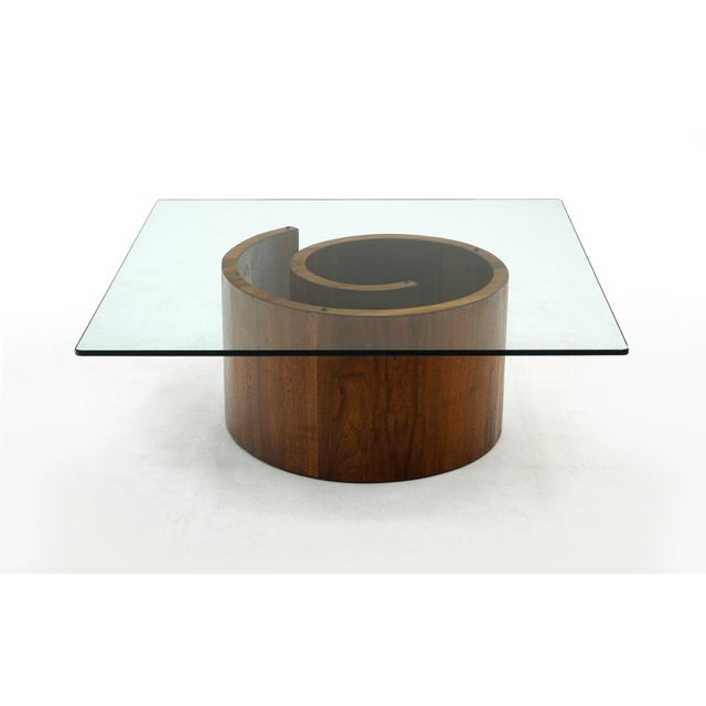 Glass 1960s Vladimir Kagan Square Snail Coffee Table For Sale - Image 7 of 7