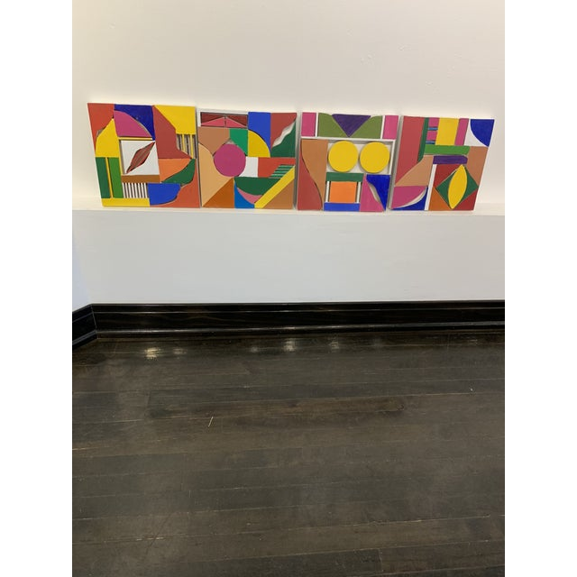 Color Wood Blocks A. Mallow 1980s Sculpture For Sale In Chicago - Image 6 of 6