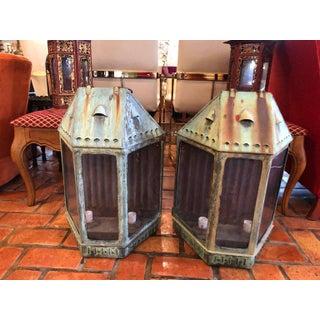 Large Antique Copper Lanterns - a Pair Preview