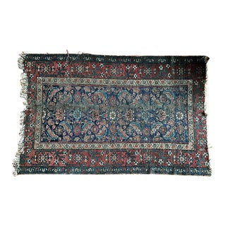 Vintage Antique Hand-Knotted Wool Persian Kilim Style Rug - 3′5″ × 5′2″