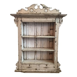 Farmhouse Primitive Cream Bookcase For Sale