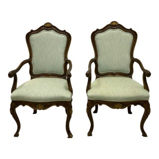 Karges French Style Arm Chairs - a Pair For Sale