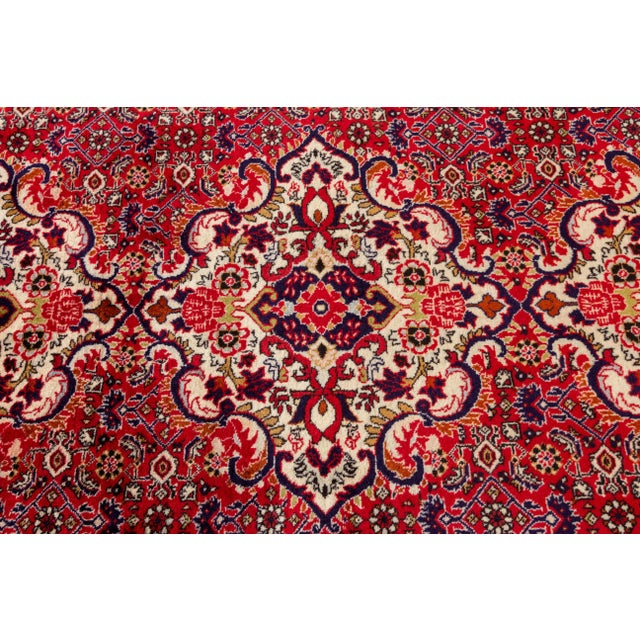 "Red Bidjar Runner Rug, 2'11"" X 9'11"" For Sale - Image 8 of 9"