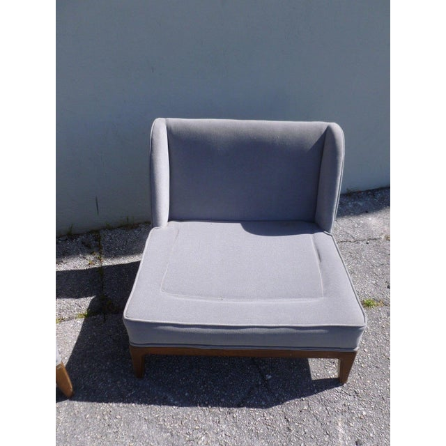1950s Mid-Century Modern Edward Wormley Low Back Slipper Chairs - a Pair For Sale In Miami - Image 6 of 8