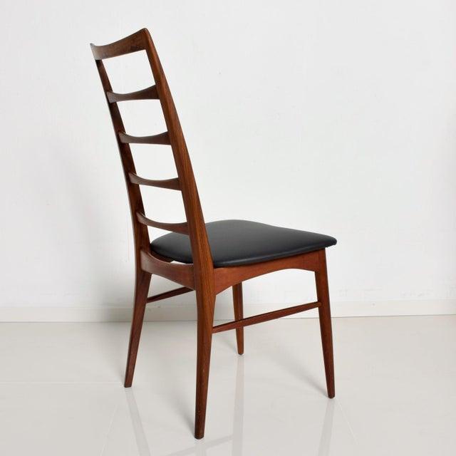 Wood Set of 4 Danish Modern Teak Ladder Back Niels Koefoeds Dining Chairs Hornslet For Sale - Image 7 of 11
