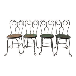 Vintage Bistro Ice Cream Parlor Chairs - Set of 4