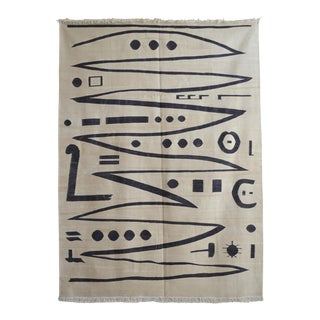 Paul Klee - Heroic Strokes of the Bow - Inspired Silk Hand Woven Area - Wall Rug 4′10″ × 6′7″ For Sale