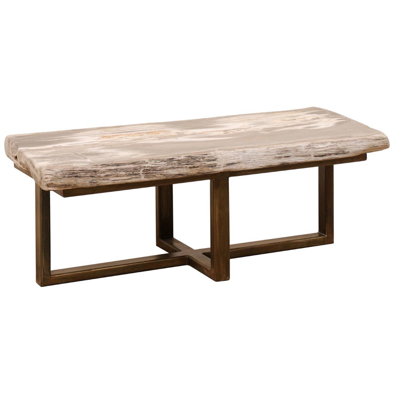 - Custom Petrified Wood Coffee Table Chairish
