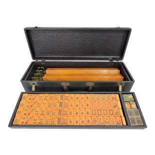 Vintage E S Lowes Bakelite Mahjong Game Set With Racks For Sale