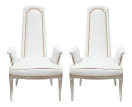 Image of Hollywood Regency Bergere Chairs