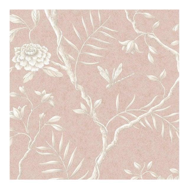 "Lewis & Wood Jasper Peony Roan Bespoke Extra Wide 52"" Botanic Style Wallpaper For Sale"