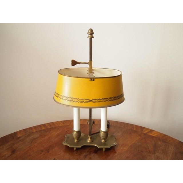Italian Brass and Tole Bouillotte Lamp For Sale In Raleigh - Image 6 of 6