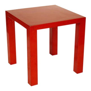 Red Lacquer Side Table