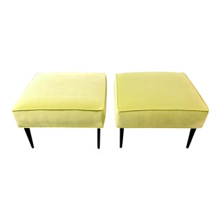 Mid-Century Paul McCobb-Style Upholstered Ottomans For Sale