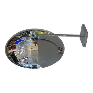 1950s Modern Chrome Disk Sconce For Sale