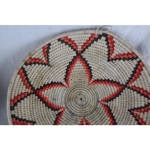 African Ghanian Orange Basket For Sale - Image 3 of 8