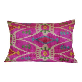 Livia Silk Velvet Ikat Pillow