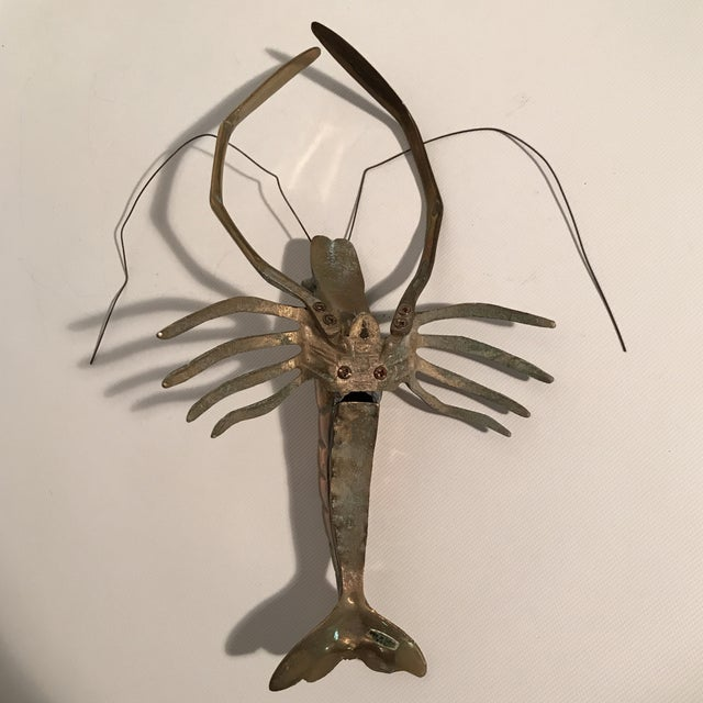 Brass Brass Lobster Sculpture For Sale - Image 7 of 9