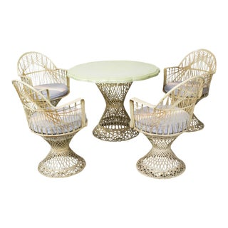 Fiber Glass Wicker Patio Furniture - Set of 4 For Sale