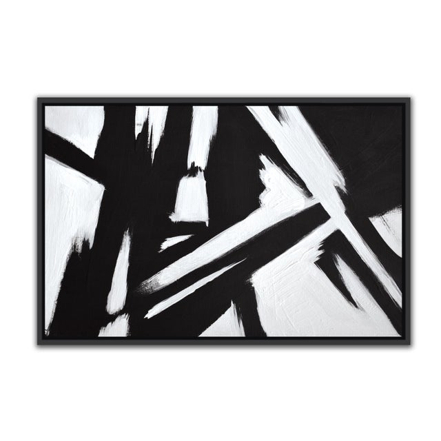 Abstract Black & White Slash - Frame Print 32x48 For Sale In Washington DC - Image 6 of 6