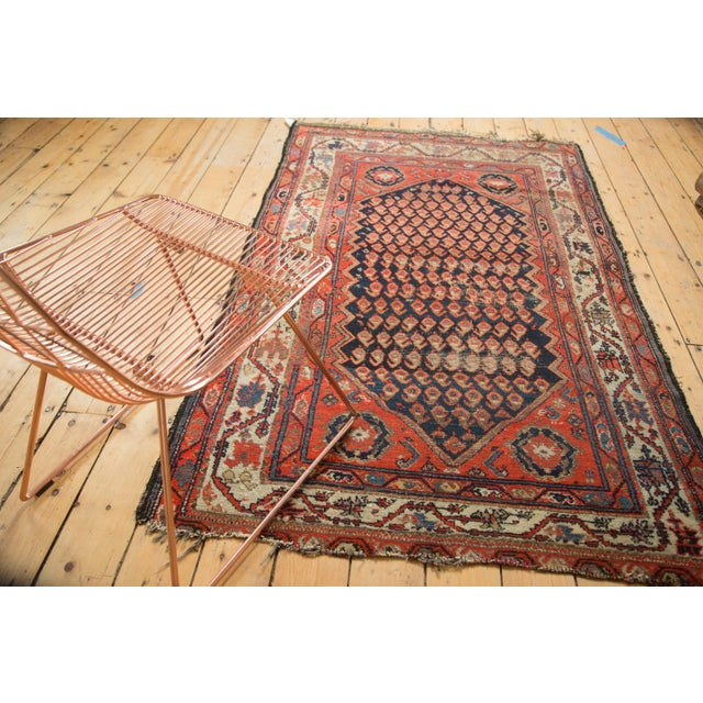 "Old New House Antique Hamadan Rug - 4' x 6'3"" For Sale - Image 4 of 11"