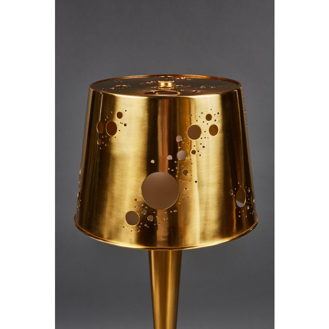 """Brass Pair of Roberto Giulio Rida """"Lattea"""" Table Lamps For Sale - Image 7 of 12"""