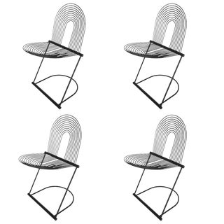 "Set Four Jutta and Herbert Ohl ""Swing"" Chairs for Rosenthal Studio"