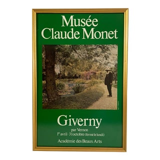 Vintage 1990's Monet at Giverny French Exhibit Poster For Sale