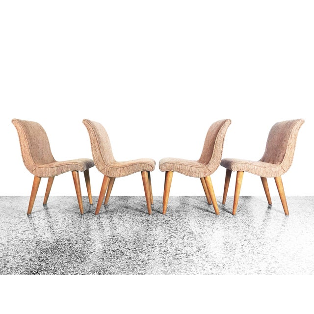 Russel Wright Scoop Dining Chairs - Set of 4 For Sale - Image 13 of 13