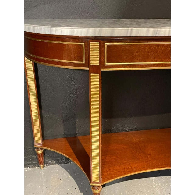 Pair of Russian Neoclassical Consoles / Sofa Tables or Sideboards, Demilune For Sale In New York - Image 6 of 13
