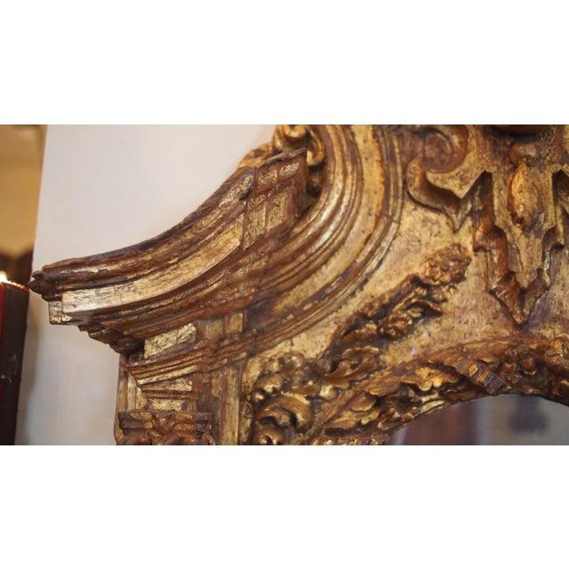 17th Century 17th Century Italian Giltwood Mirror For Sale - Image 5 of 7