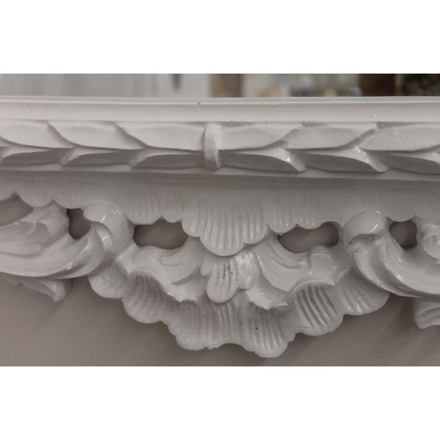 White Baroque Mirror For Sale - Image 4 of 5