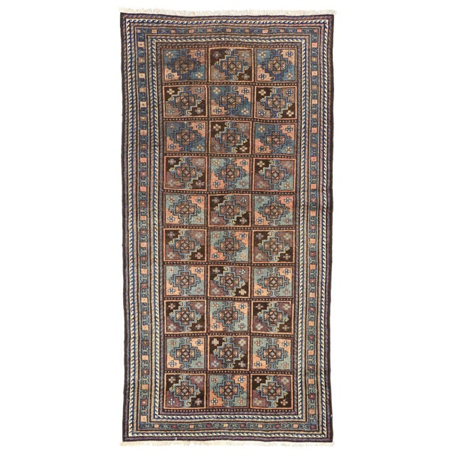 Vintage Shiraz Persian Rug with Mid-Century Modern Style For Sale In Dallas - Image 6 of 8