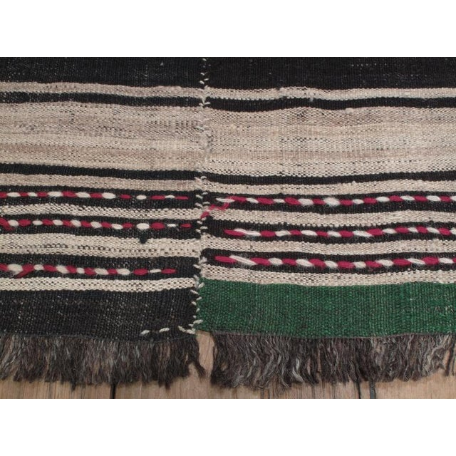 Banded Kilim in Three Panels For Sale - Image 4 of 7