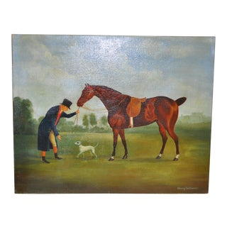 Henry Todhunter (American, 20th C.) Equestrian Oil Painting C.1940s For Sale