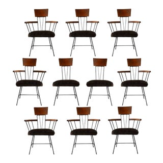 Dining Chairs Designed by Richard McCarthy for Selrite - Set of 10 For Sale