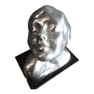 1920s Frankart Chrome Deco Head For Sale