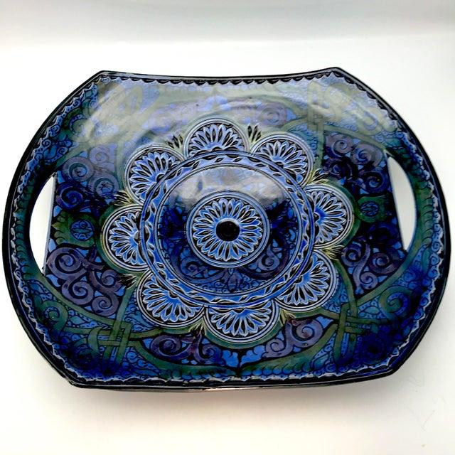 Vintage Safi Moroccan Terra Cotta Platter For Sale - Image 4 of 8